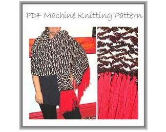 Designer Shawl Pattern - Machine Knit - Machine Knit Pattern -Shrug Pattern - Pashmina Pattern - Designer Patterns - Big Shawl Pattern