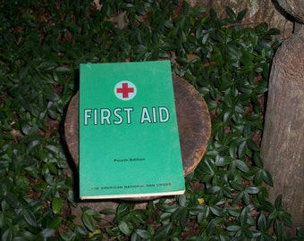 First Aid Manual Mid Century Great Condition First Responder Artifact