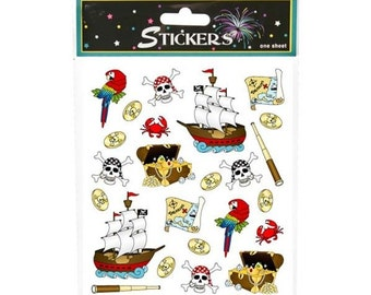 72 Pirate Themed Stickers