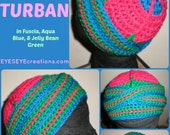 The Itty Bitty Urban Turban Crocheted Head-piece - MADE TO ORDER - Wrapping Tutorial also provided (Link is Below)