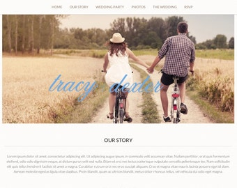 Wedded Bliss - Single Page Wedding Website Design, Domain & Hosting - 1 Year
