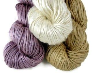 Worsted Weight Silk Yarn, Duke Silk Yarn, 150gm 5.25oz 375yds Pick your Colors