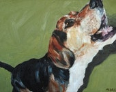 Custom Pet Portrait Oil Painting 12x16 Pet Memorial Birthday  Gift