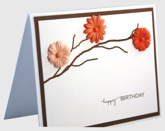 Birthday card, Birthday card for mom, handmade birthday card, happy birthday