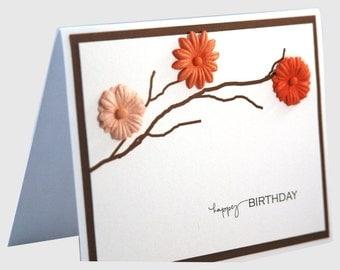 Birthday card, Birthday card for mom, handmade birthday card, happy birthday