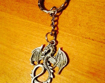 Game of thrones / Merlin inspired dragon keychain