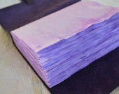 Purple embossed sketchbook leather journal