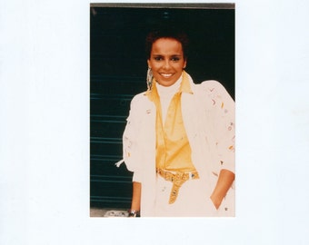 Vintage Shari Belafonte 4x6 Color Photograph