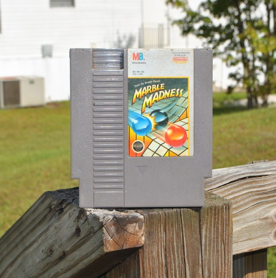Vintage Nintendo Marble Madness (NES) By Rare 8 bit 1986