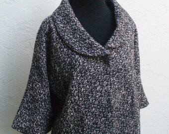 Vintage Black and White Tweed Jacket