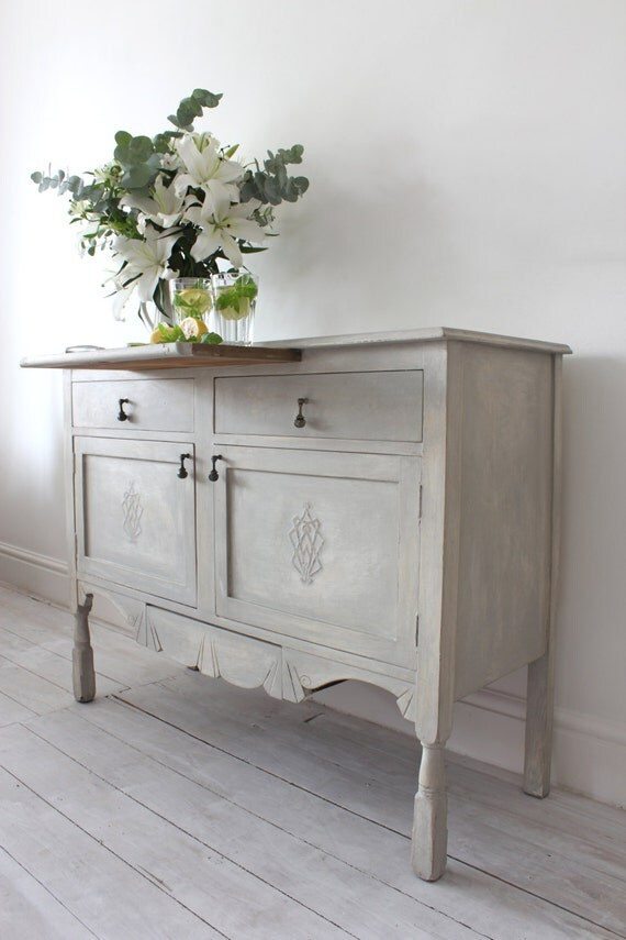 Items similar to decorative elegant annie sloan paris grey for Decorative items for dining room