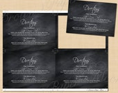 Chalkboard Wedding Directions, Information, Accommodations Insert (5 x 3.5, Landscape): Text-Editable, Printable Instant Download