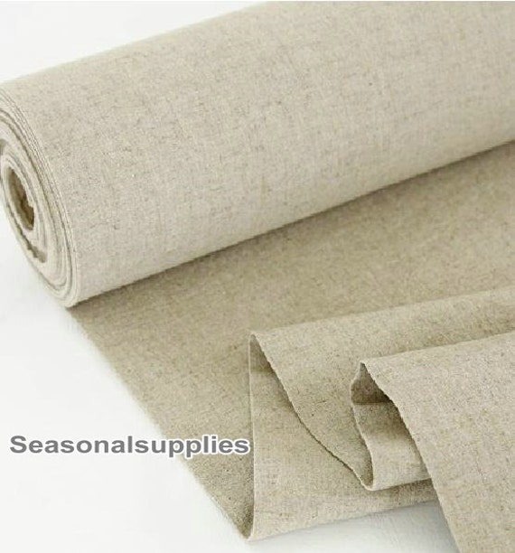 Home Decor Weight Fabric Cloth Natural Pure Linen Cotton