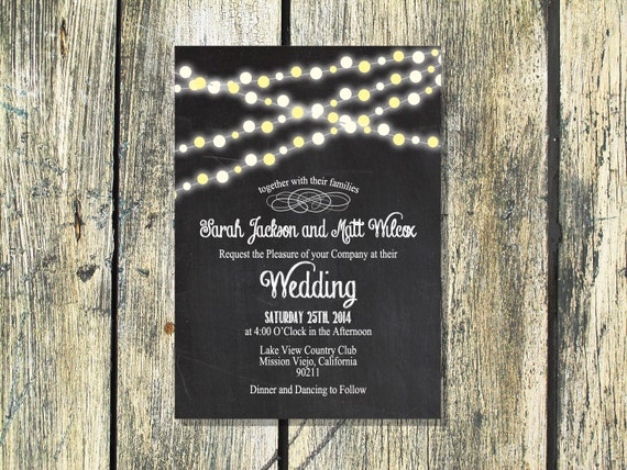 Backyard Wedding Invitation