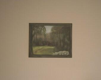 """A """"framed"""" peaceful garden"""