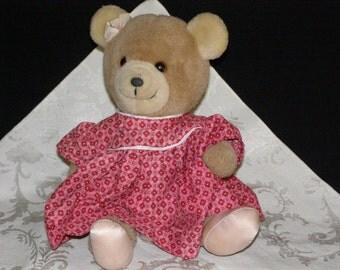 Vintage 1985 Dankin Bear this little lady needs adoption! 12 inch
