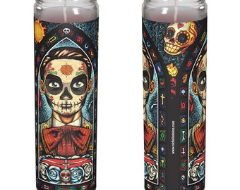 "Mexican Day of the Dead Candle - ""Muerto"""