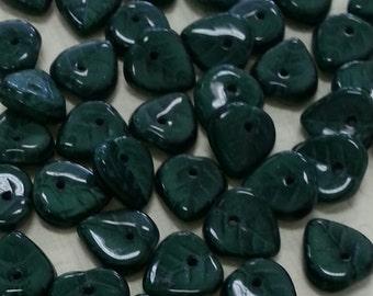Czech Glass Leaf Beads CZL4