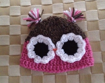 Hand Made Baby Owl Hat