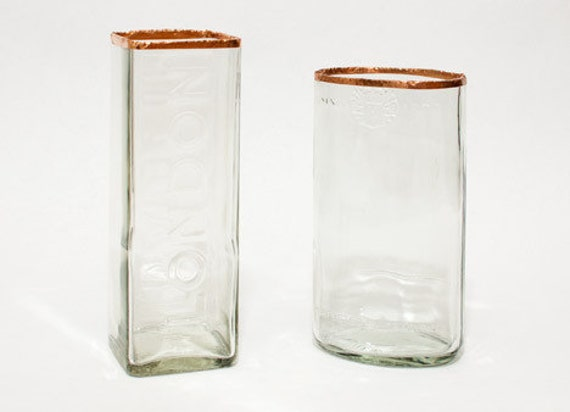 liquor bottle vase