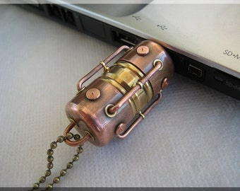16/32/64/128GB Metal USB 3.0 Hi-Speed Arc flash drive. Steampunk !!! FREE shipping !!!