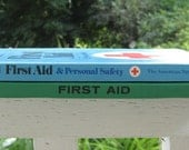 Vintage First Aid Books- Turquoise and Green Books