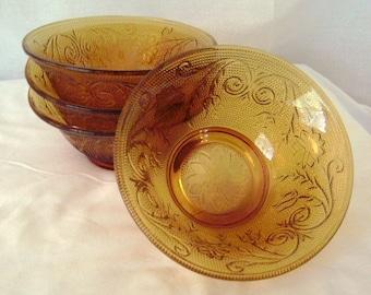 Tiara Indiana Glassware Salad Bowls