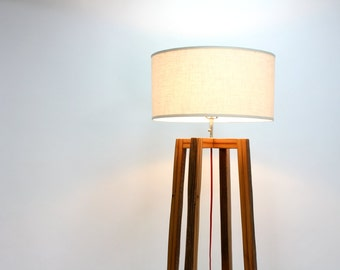 Modern Floor Lamp // Reclaimed Wood Light // Geometric Lighting