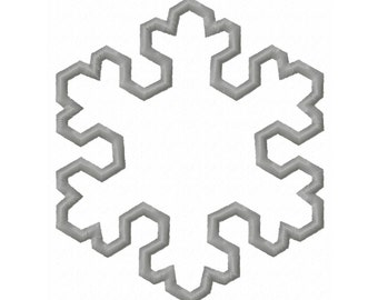 Winter Snowflake 5 Applique Embroidery Design 3x3 4x4 5x7 6x10 INSTANT DOWNLOAD