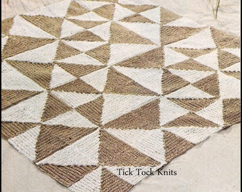 No.261 Crochet Pattern PDF Vintage - Simple Geometry Rug - Retro Crochet Pattern - Bedroom, Living Room, Kitchen - Instant Download