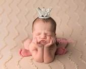 Newborn Princess Tiara - Full Circle Mini Rhinestone Crown Headband - Couture Newborn Photo Prop or Princess Keepsake