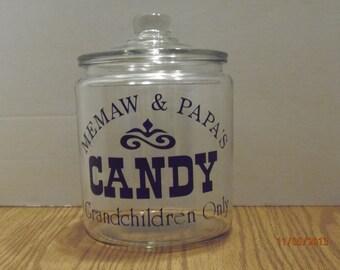 Memaw & Papa's Candy Jar