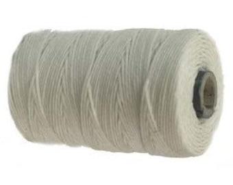 10 Yards - White - Irish Waxed Linen, 4 ply