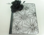 Black and White Altered Notebook,  Altered Notebook, Memory Book, Diary, Journal, Scrapbook, Special Notebook