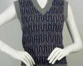 Vintage 1970's Yves Saint Laurent sweater vest