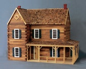The Retreat, a Ponderosa Log Cabin Dollhouse Kit,  One Inch Scale, Made in USA