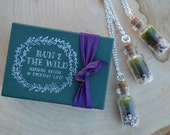 BRIDESMAIDS GIFT SPECIAL 3 Terrarium Necklaces with live kentucky moss