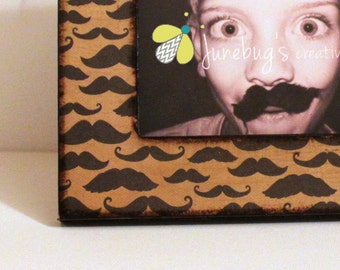 4x6 or 5x7 Mustache Party Photo Frame
