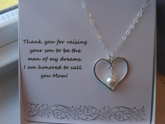 Mother Of The Groom Gift: Mother Of The Groom Gift Sterling Silver Heart Necklace