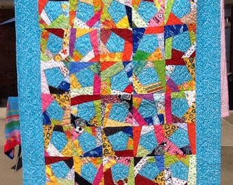 CRAZY summer brights lap quilt