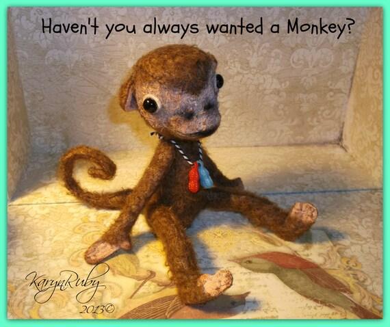 PDF EPattern to make 9 inch Monkey 'Baby Peanut Monkey
