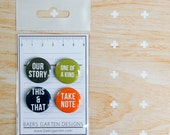 Badges / Adhesive buttons Basic Words 6