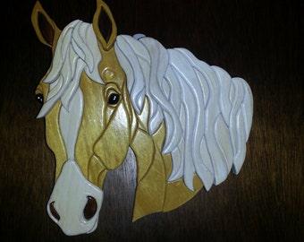 Horse Intarsia Wood