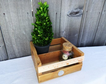 Wooden box Crate HERB planter