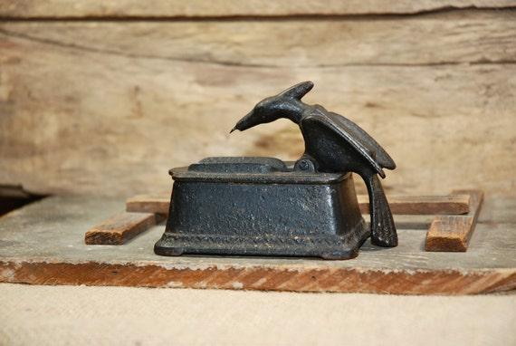Items Similar To Cast Iron Woodpecker Toothpick Grabber Antique Bird Toothpick Holder On Etsy