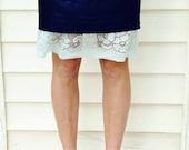 SALE Modest Slip Extender- Baby Blue Lace