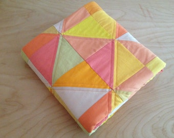 "Modern ""Miriam"" Baby Quilt or Throw"