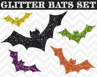 60% OFF SALE Halloween Clipart, Bat Clipart, Glitter Clipart, Clipart Halloween, Glitter Bats Clipart, Halloween Clip Art, Bat Clip Art