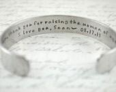 Custom Personalized Secret Message Hand Stamped Bracelet- Personalized Bracelet