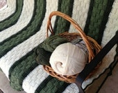 Reserved for Anna M/Crocheted Afghan/Basket Weave Stitch